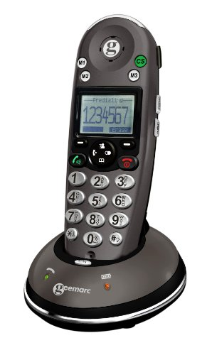Alert Digital Cordless Phone - Sonic Alert Digital Cordless Telephone with Caller ID & Heaing Aid Compatibility - AMPLIDECT350