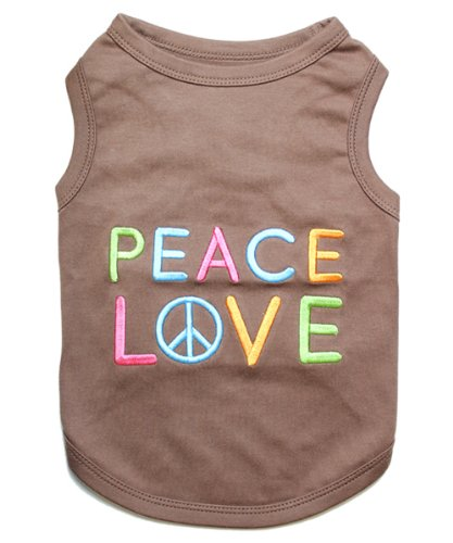 Parisian Pet Peace Love Dog T-Shirt, XL