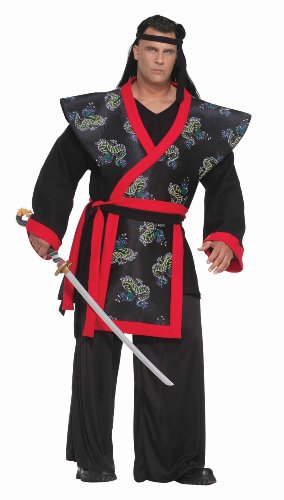 Forum Big-Tall Big Fun Super Samurai Costume, Red/Black, XXX-Large