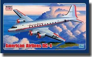 (American Airlines DC-4 Minicraft Model Kits 1/144 Scale For Ages 3+)