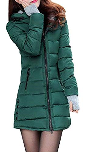 Tasche Lunga lannister Giaccone Piumini Con Laterali Invernali Slim Fit Manica Cappotti Ragazza Cappuccio Cerniera Caldo Qk Donna Alta Di Grün Qualità Mantello 0wqgO7