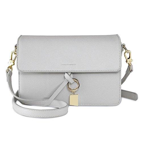 Bolsos de cuero Simple Wild Ladies Shoulder Bag Female Messenger Bag Fashion Small Party Wallet (Color : Blanco) Blanco