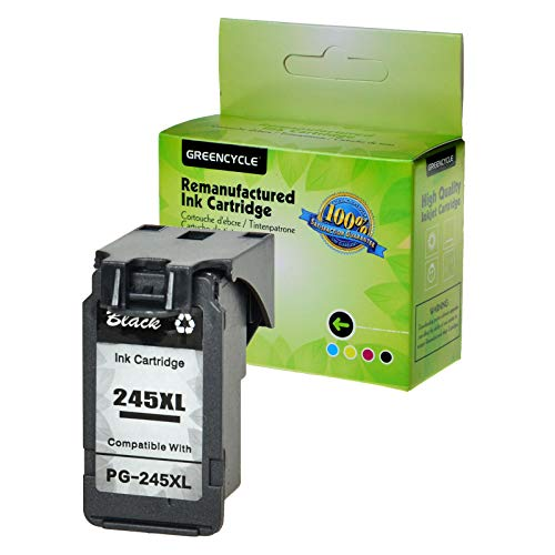 GREENCYCLE Re-Manufactured PG-245XL PG-245 245 XL Ink Cartridge Replacement for Canon Pixma MX490 MG2522 MG2525 MG2922 MG2924 MG3020 MG3022 MG3029 TS3120 TS3122 TS202 Printers (Black, 1 Pack)