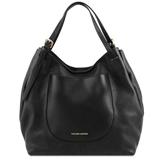 Nero Cinzia in Leather Borsa pelle morbida Tuscany shopping 0qOw5R7