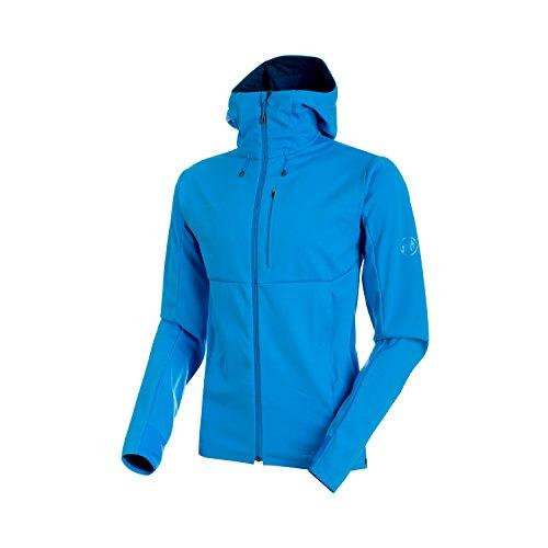 (Mammut 1011-00060 Men's Ultimate V SO Hooded Jacket, Imperial-Jay Melange - L)