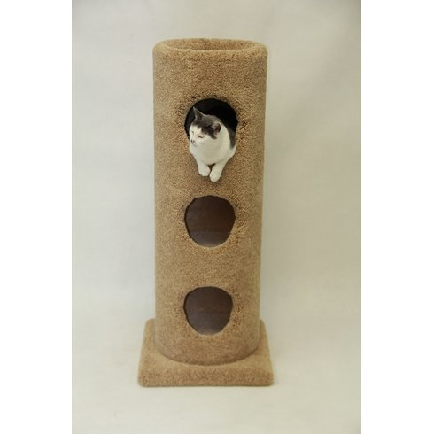 Beatrise Three Story Cat Condo with Square Base