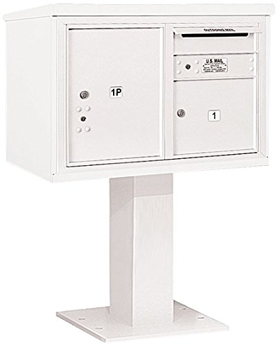 Salsbury Industries 3405d-01wht 4 C Pedestalメールボックス、ホワイト B00CLVFC2M