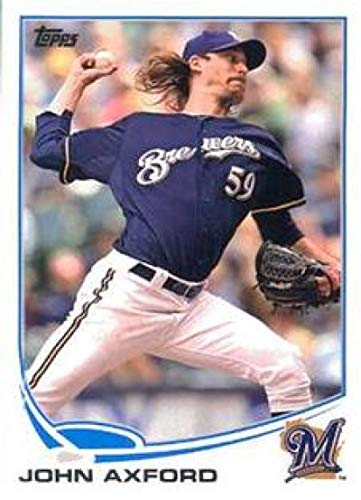 (2013 Topps Mini #59 John Axford Brewers MLB Baseball Card NM-MT)