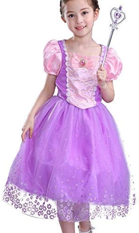 CosPrincely Niña Disfraz de Princesa Vestido de Princesa Carnaval ...