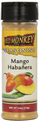 UPC 852177000501, Red Monkey Foods Mango Habanera Seasoning, 4-Ounce Bottles (Pack of 6)