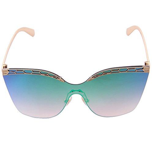 incrustés ogobvck femme la des est mode conduite arrondi cadre antireflets métal perles de la de moderne lunettes voyage verres personnalisé Green qvqw1rx