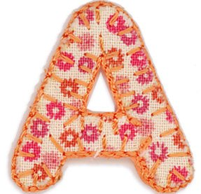 alphabet letters iron onapplique 25mm motif girl letter a