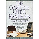 The Complete Office Handbook, Mary A. De Vries, 0517089068