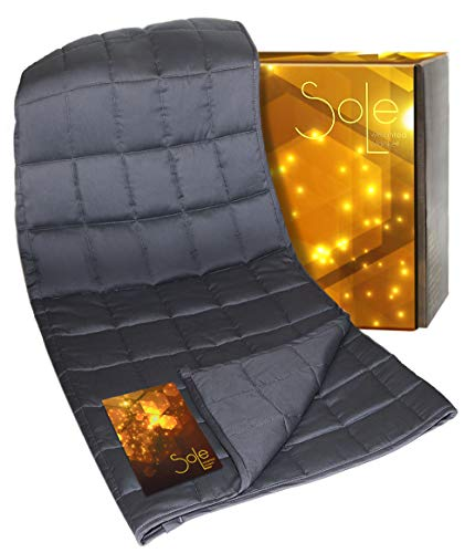 "SOLE Premium Weighted Blanket (15LBs) - Weighted Blanket w/ Small 3.94""..."