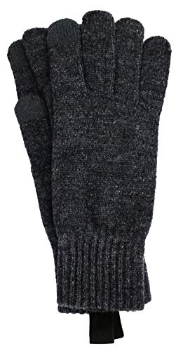 - UGG Men's Knit Tech Gloves Graphite Heather One Size