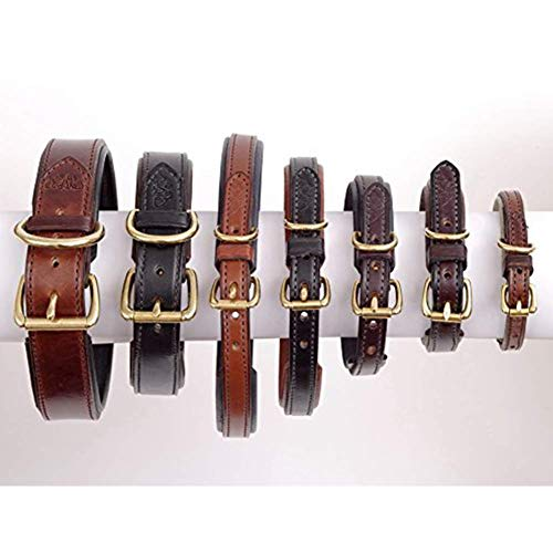 Buy natural genuine leather dog collar