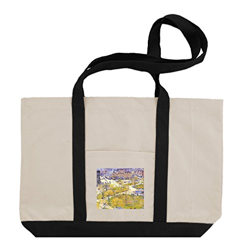 Union Square Print (Union Square In Spring (Hassam) Cotton Canvas Boat Tote Bag Tote - Black)