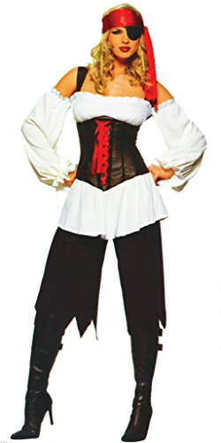 (Leg Avenue Womens Pirate Lady Outfit Fancy Dress Sexy Costume, M)