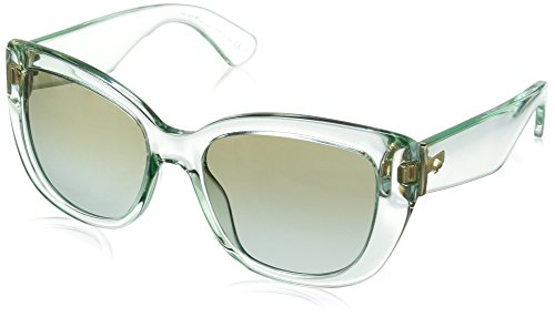 Kate Spade Women's Andrinas Cateye Sunglasses, Green/Brown Green Sf, 54 - Case Sunglass Spade Green Kate