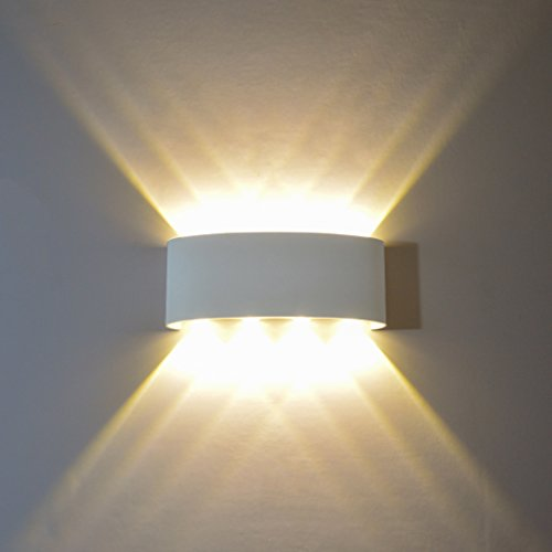Wall Sconce Lights FLYDEER 8W Modern LED Wall Light Up Down Aluminium Wall Lights Wall Lamp for Living Room Bedroom Corridor (warm white (Sconces Picture Lighting)