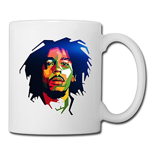 Dynasty Teacup (Cool Bob Marley Cool Colorful Art Design Ceramic Coffee Mug, Tea Cup | Best Gift For Men, Women And Kids - 13.5 Oz, White)