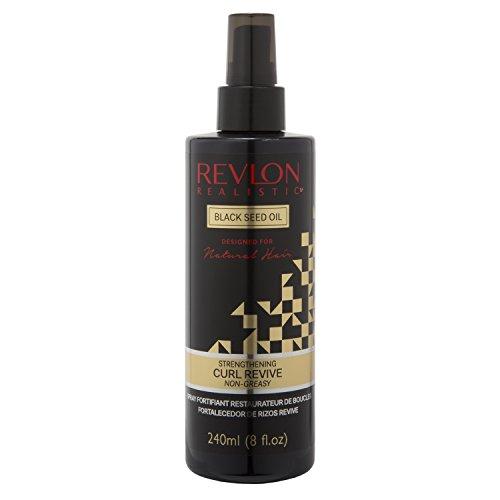 Revlon Realistic Naturally Strong Strengthening Curl Revive Non-greasy 8 Oz (240ml) Pack of (Revlon Bottle Spray)
