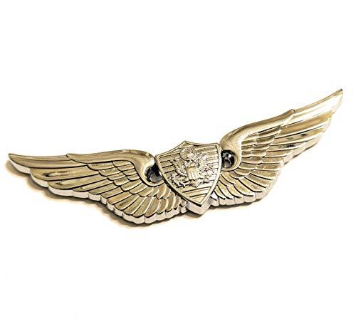 Shadow Six Romeo Military Army Chrome Metal Decal Auto Emblem (Basic Aviation Badge)