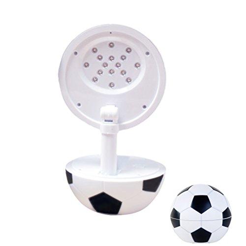LEDMOMO LED Table Lamp, 220V Football Shape Desk Llight Charging Foldable Reading Light for Home Office (Black) by LEDMOMO