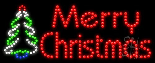amazoncom merry christmas animated outdoor led sign 11 tall x 27 wide x 35 deep office products