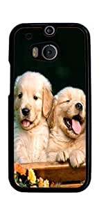 Golden Retriever Dog Hard Case for HTC ONE M8 ( Sugar Skull )