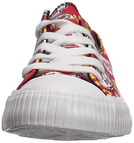 fb018780 FOCO NFL Womens Low Top Repeat Print Canvas Shoes