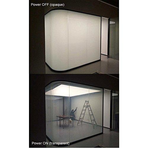 HOHO Electronic PDLC Smart Film PDLC Switchable Smart Film Electric Smart Glass Window Film(19.6''X39.3'') by HOHO