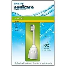 Philips Sonicare E Series Standard Brush Heads - 6 Pack