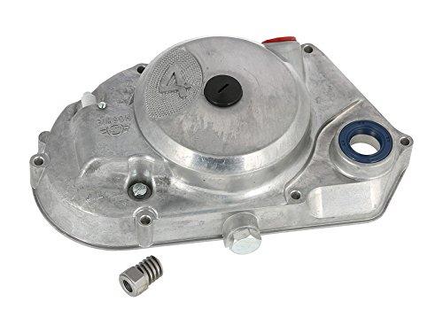 Kupplungsdeckel SIMSON 4-Gang, natur - vormontiert (DZM-Antrieb, Schraubenritzel, Verschlussschrauben, Wellendichtringe) - f. Motor-Typen M500 / M700 MZA