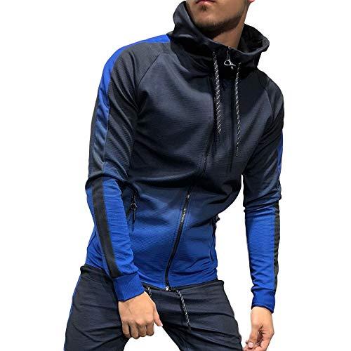 Photno Men's Casual 2 Pieces Athletic Full Zip Sports Sets Jacket & Pants Active Fitness Sweat Tracksuit Set