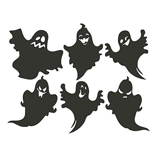 ZHUXINHAO Ghostly Ghost Carved Wall Sticker, Happy Halloween Background Wall Sticker Window Home Decoration Wall Decor Sticker (Color : Black) -