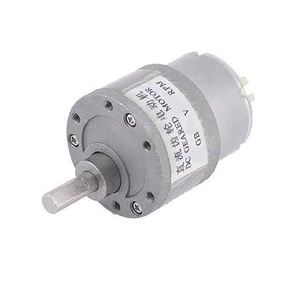 DealMux 12VDC 200RPM velocidade Reduzir 6 milímetros Diâmetro do eixo do motor elétrico Voltada