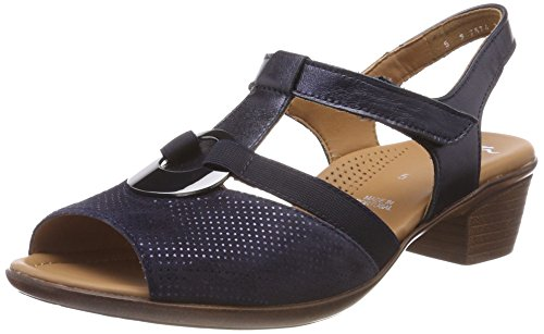 Sandals 3 Women's Lugano 5 UK UK ara Blue T Bar PIgHpq