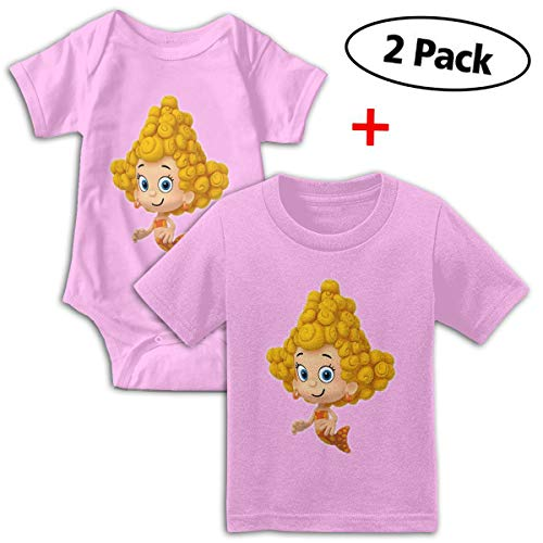 Bubble Guppies Babys Boy's & Girl's Short Sleeve Jumpsuit Outfits And Tshirt ()