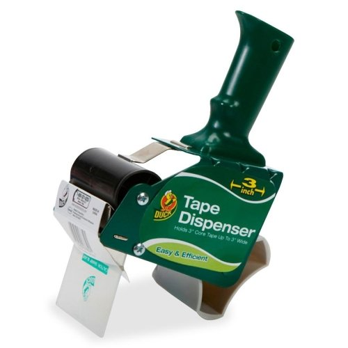 Extra-Wide Packaging Tape Dispenser, 3'' Core, Green, Sold as 1 Each 3' Heavy Duty Tape Dispenser