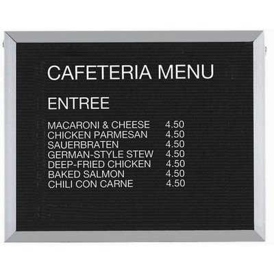 Framed Wall Mounted Bulletin Board Frame Color: Aluminium, Size: 24'' H x 30'' W by Aarco