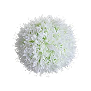 "10"" Allium Kissing Ball White (Pack of 4) 84"
