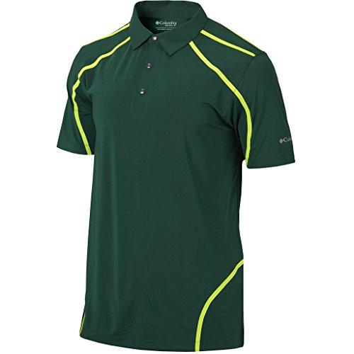 Columbia Sportswear Short Sleeve Polo Shirt - Columbia Sportswear Mens Omni-Wick Cut Away Short Sleeve Golf Polo Shirt Forest Medium