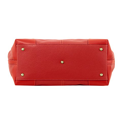 81415164 - TUSCANY LEATHER: AMBROSIA - Sac en cuir souple avec bandoulière, Rouge