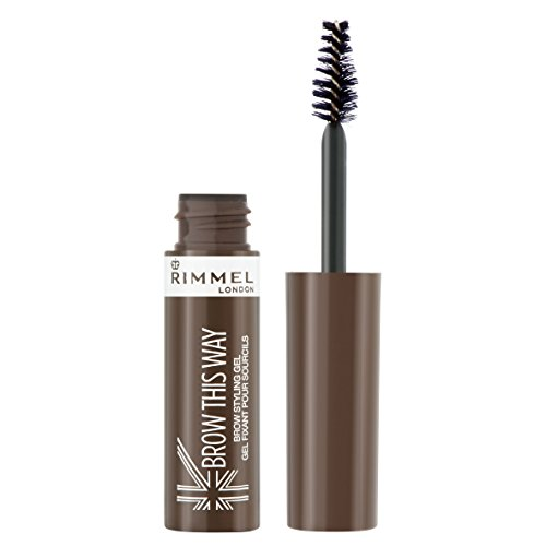 Rimmel Brow This Way, Lightweight Eyebrow Gel, Medium Brown, 0.17 oz, Define & Sculpt Your Brows with Professional Level Styling Products ()