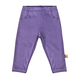 CBB Certified Organic Purple Leggins With Back Pockets (Newborn (5-8 lbs))