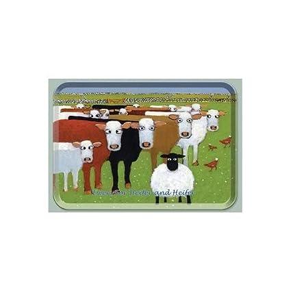 Thomas Joseph Ewers para vaquilla y bandeja de melamina de novilla 33 cm x 23 cm