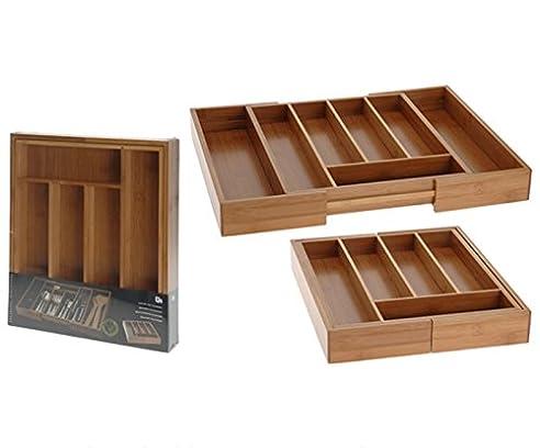 besteckkasten ausziehbar bambus besteckeinsatz holz schublade