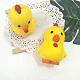 fine 2pc Squishies Adorable Chicken Slow Rising Cream Squeeze Scented Stress Relief Toys (As Shown)