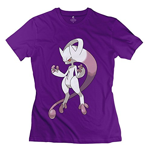 Lady Pokemon Mewtwo 2 T Shirt - Cool Custom Purple T-Shirt